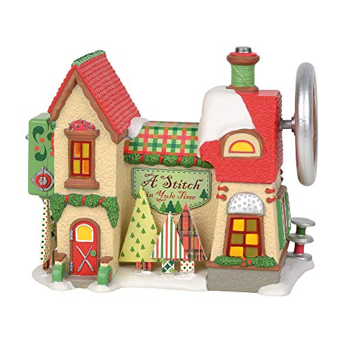 Department 56 North Pole Series Stitch In Yule Time Lit Building