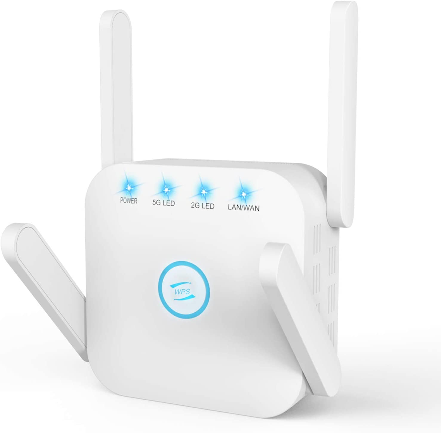 WiFi Range Extender, 1200Mbps WiFi Extender Signal Booster for Home, Dual Band 2.4G 5G WiFi Repeater, 4 Antennas 360° Full Coverage Ethernet WPS AP/Repeater Mode