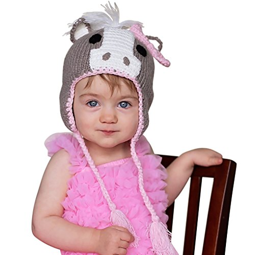 Huggalugs Girls Pony Horse Beanie Hat Large (2-6yr) -