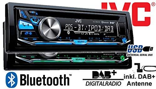USB Autoradio inkl JVC KD-DB97BT DAB+ Antenne JUST SOUND best choice for caraudio Bluetooth DAB+ Digitalradio Einbauset f/ür Mercedes Citan W415