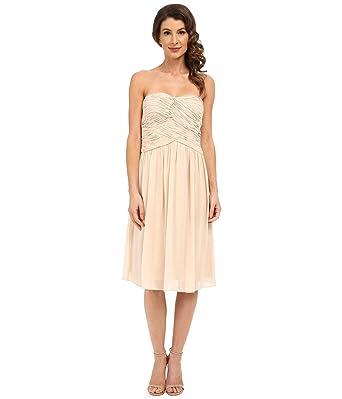 b3b80eaa9f3b Amazon.com: Donna Morgan Women's Anne Short Strapless Chiffon Dress:  Clothing