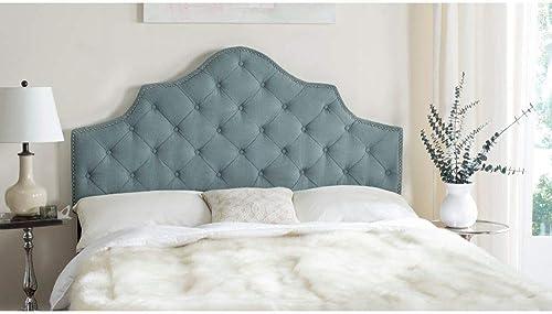 Safavieh Arebelle Sky Blue Upholstered Tufted Headboard
