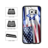 BleuReign(TM) Israel and USA Mixed Flag TPU RUBBER SILICONE Phone Case Back Cover For Samsung Galaxy S6