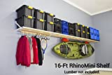 DIY RhinoMini Shelf Kits for Garages & Other Applications (16′ Length; 20″ Width)