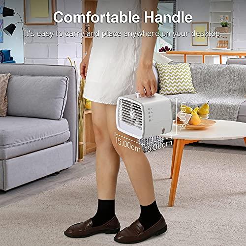 Persönlich Klimaanlage Für Zimmer, 4 In 1 Kleine Klimaanlage Für Zimmer, Usb Mobile Klimaanlage Klein, Mini Klimaanlage, Mini Air Cooler, Tragbare Klimaanlage, 7 Farben LED, 3 Kühlstufen, Büro
