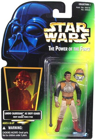 Star Wars Power of the Force Freeze Frame Lando Calrissian as Skiff Guard Action Figure 3.75 Inches