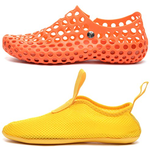 Odema Womens Hollow Out Quick Drying Sandals Water Shoes Orange qUOFqZ2Is
