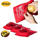 Microwave Potato Cooker Bag,Reusable Baked Potato Microwave Baking Bag,Potato Pouch Cooker Perfect Potatoes Just in 4 Minutes(8 Pack)