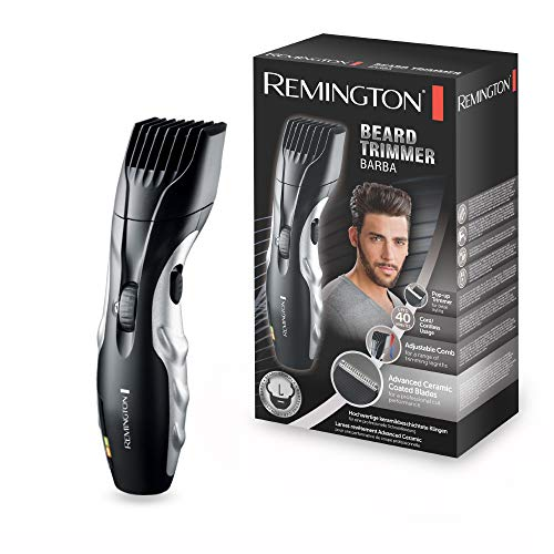 Remington Barba Beard Trimmer for Men with Ceramic Blades and Adjustable Stubble...