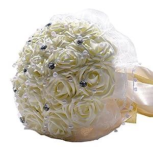 Wedding Flowers Bridal Bouquets Bridesmaid Bouquet Artificial Flowers Rose Bouquet 23