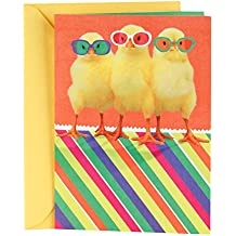 """Hallmark (499ETD1145) Funny Easter Greeting Card with Song for Kids (Plays """"The Chicken Dance"""" Chicks in Sunglasses)"""
