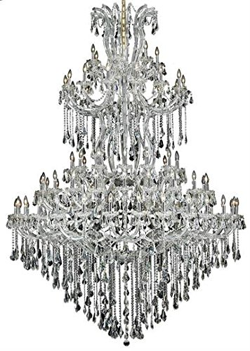 Karla Chrome Traditional 85-Light Grand Chandelier Swarovski Elements Crystal in Crystal (Clear)-2381G96C-SS--8
