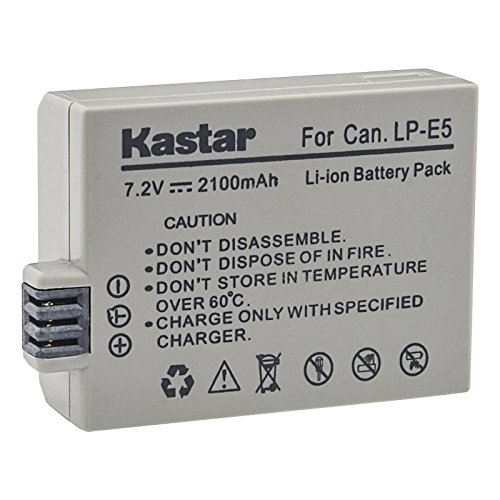 Kastar Battery (1-Pack) for LP-E5, LC-E5E work with Canon EOS 450D, 500D, 1000D, Kiss F, Kiss X2, Kiss X3, Rebel XS, Rebel XSi, Rebel T1i Digital Cameras