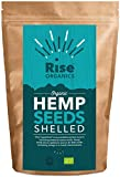 Organic Raw Shelled Hemp Seeds by Rise Organics 500g | Vegan | High quality Protein | Resealable Foil Pack for Freshness