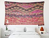 Crannel Christmas Colorful Thai Peruvian Style Rug Surface Old Vintage Torn Made from Natural Materials Tapestry 50x60 Inches Wall Art Tapestries Hanging for Dorm Room Living Home Decorative