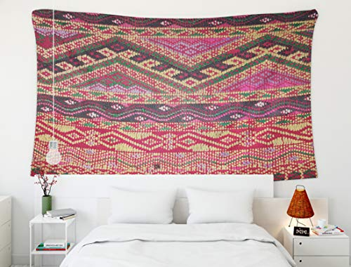 - Crannel Dorm Decor, Christmas Colorful Thai Peruvian Style Rug Surface Old Vintage Torn Made from Natural Materials Tapestry 80x60 Inches Wall Art Tapestries Hanging Room Living Home Decorative