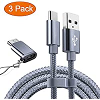 USB Type C Cable OULUOQI USB C Cable 3 Pack(6ft) Nylon...