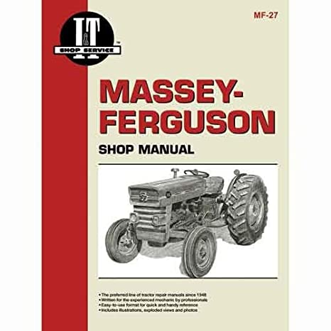 amazon com i t shop manual mf 27 massey ferguson 165 165 135 135 rh amazon com massey ferguson 165 service manual massey ferguson 165 repair manual pdf