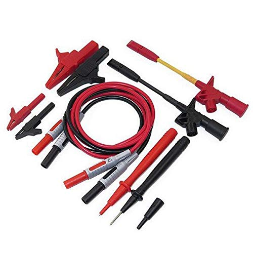 P1600C 10 in 1 Electronic Multimeter Probe Leads Kit Banana Plug Automotive Test Probe Kit - Measurement & Analysis Instruments Digital Multimeters & Oscilloscopes- 1 x P1600C 10 in -