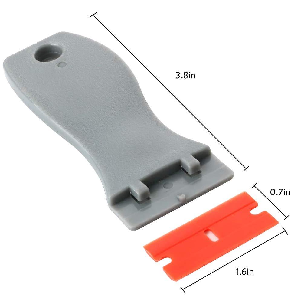 Kaiying 1.6 Zoll Breit Plastic Razor und 10 pcs Double Edge Blade Razor Scraper For Scraping Tags