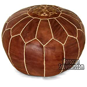 Moroccan Pouf, Pouffe, Ottoman, Poof, Color : Brown