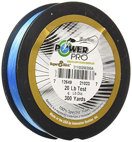 Power Pro 31100801500A Super 8 Slick Fishing Line, Marine Blue, 80-Pound/1500-Yard (Power Pro Fishing Line 1500 Yards)