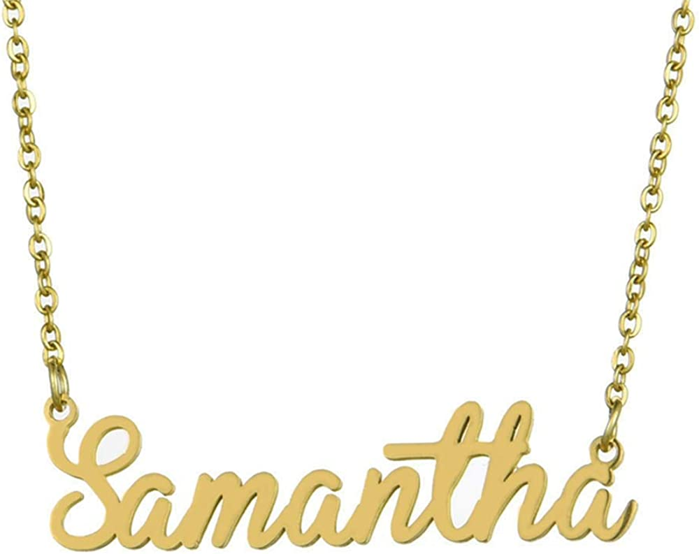 ONETKM Custom Personalized Name Necklace S925 Sterling Silver Pendant Jewelry Gift for Women