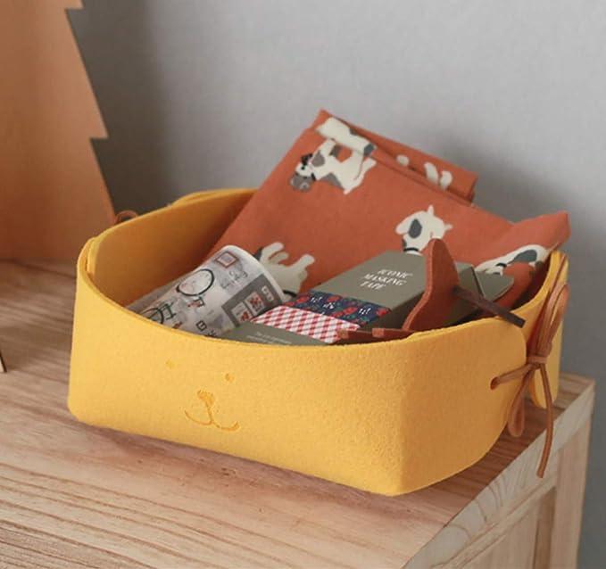 Xlabor S/ü/ß B/är Filz Aufbewahrungsbox Organizer K/örbe Filztasche Stoff Kinderzimmer Organizer Aufbewahrungskorb gelb
