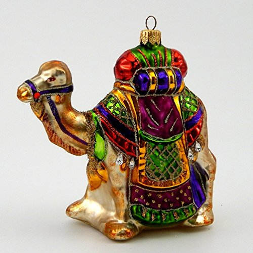 Colorful Camel- Polish Blown Glass Christmas Ornament