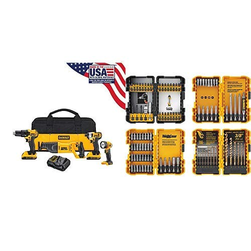 DEWALT DCK420D2 20V MAX Cordless Lithium-Ion 4-Tool Combo Kit 20V Combo Kit with DWMT81531 84Pc Mechanics Tool Set