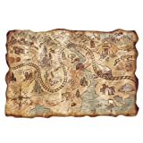 Plastic Gold Mine Treasure Map Party Accessory (1 count) (1/Pkg)