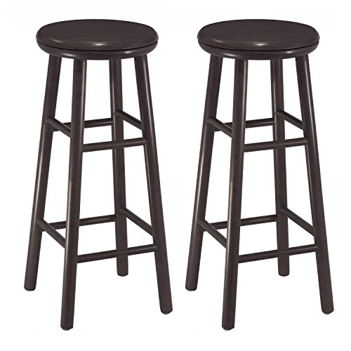 Winsome Wood 30-Inch Swivel Bar Stools, Dark Espresso Finish, Set of 2