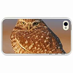 iPhone 4 4S Black Hardshell Case owl beak feathers Transparent Desin Images Protector Back Cover
