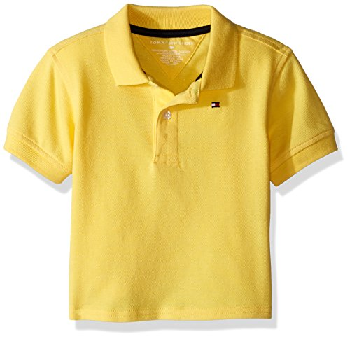 Tommy Hilfiger Baby Ivy Polo, Tara Yellow, 24 Months (School Embroidered Toddler Polo)