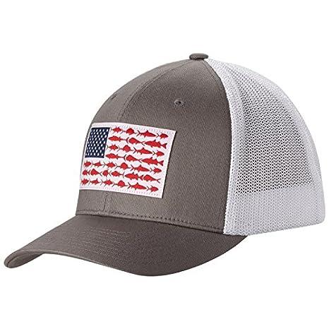 bf5d8d81645 Amazon.com   Columbia Men s PFG Mesh Ball Cap (Titanium Fish Flag ...