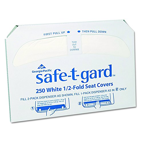 Safe-T-Gard Disposable Toilet Seat Covers by GP PRO (Georgia-Pacific), 1/2 Fold, 47046, 250 Covers Per Pack, 20 Packs Per ()