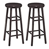 Bar Stool 30 Inch Winsome Wood 30-Inch Swivel Bar Stools, Dark Espresso Finish, Set of 2