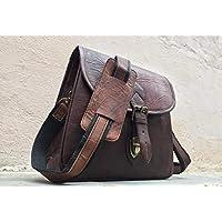 Pascado Retro Look women's handmade leather crossbody shoulder satchel purse small handbag 9x11 inch