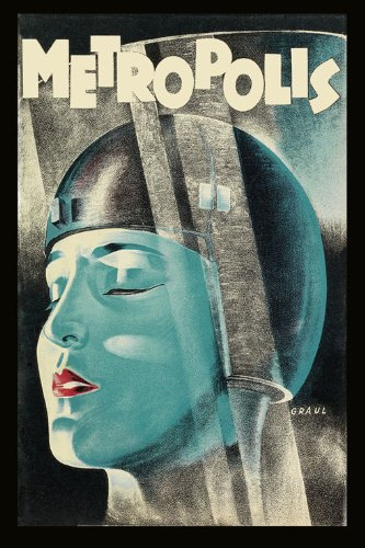German Vintage Poster - Metropolis 1927 German expressionist epic science-fiction film directed by Fritz Lang Movie Vintage Poster Repro 20