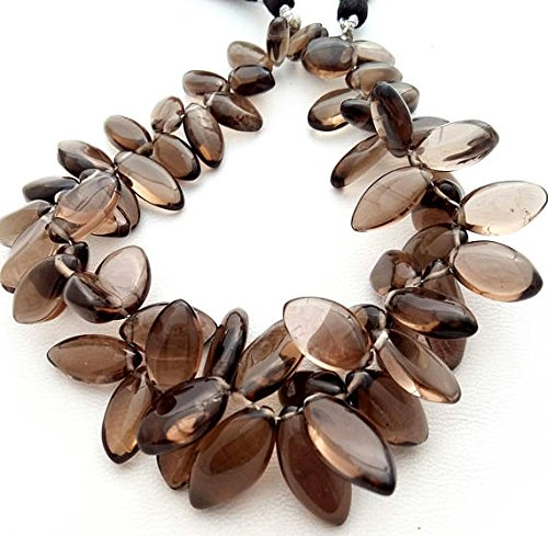 SMOKY quartz smooth marquise shaped beads ,Nice quality smoky beads,amazing quality,9.5 mm -- 20.5 mm, 8 inch strand�
