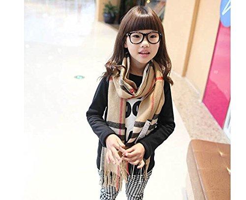 S Cloth Warm Cotton Scarves & Wraps For Children Famous Brand Plaid Grid Design Fashion Winter Scarf For Boy & Girl