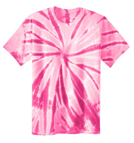 (Koloa Surf Co. Youth Colorful Tie-Dye T-Shirt in Youth Sizes XS-XL Pink)