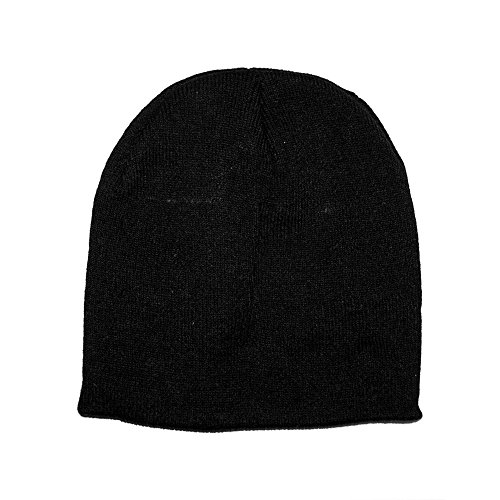 Opromo (Price/96 Pcs) 8.5'' H Heavyweight Short Beanie Cap, Many Colors Available-Black by Opromo