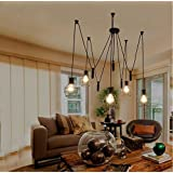TiptonLight Black Chandeliers with 5 Heads without Lights Pendant Light Modern Style for Sitting Room,Dining-room,Study,Corridor,The Bedroom