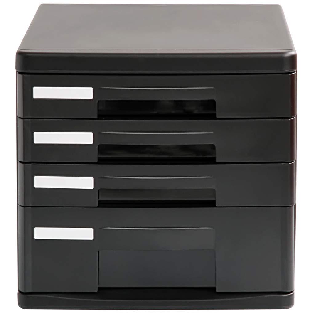 File cabinets LITING Desktop Information Cabinet Plastic Multi-Layer File Storage Cabinet Folder Storage Box Drawer Cabinet Four-Layer Lock-Free Drawer