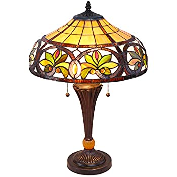 tiffany table lamps best prices cheap style uk this item sunrise mosaic stained glass lamp antique vintage styling double pull chain yellow small la
