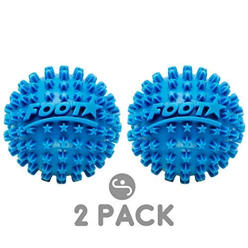 Foot Star Massage Ball & Roller Massager - Plantar Fasciitis Deep Tissue Massage & Trigger Point Therapy - Lacrosse Ball Myofascial Release Tools & Accessories - Ideal for Travel by - Rubz Foot Massage Ball
