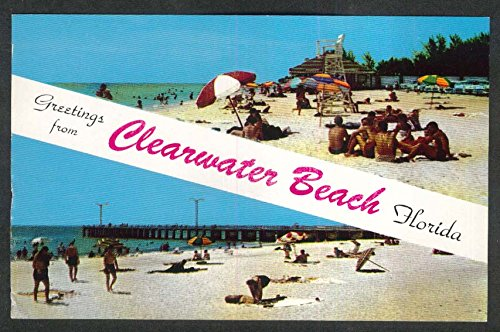 Greetings from Clearwater Beach FL postcard 1960 ()