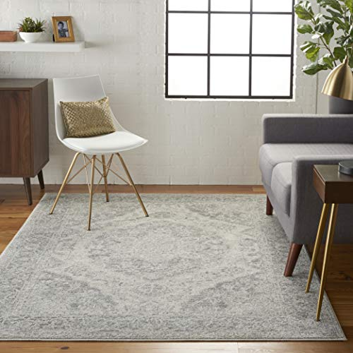 (Nourison TRA05 Tranquil Persian Vintage Ivory/Grey Area Rug 6' X 9)