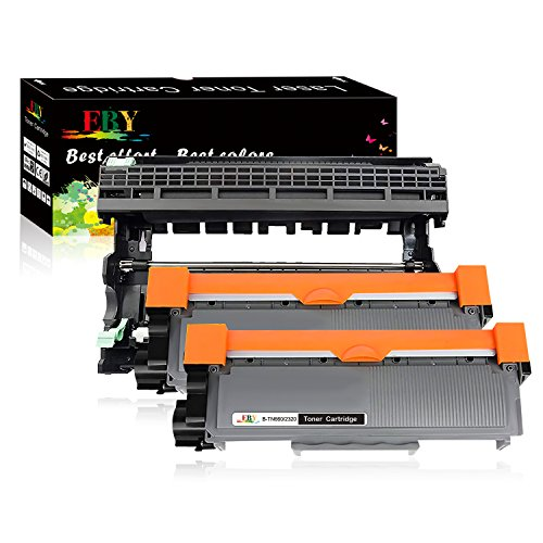 EBY Compatible Toner Cartridge Replacement for Brother TN630 TN660 Toner DR630 Drum HL-L2340DW HL-L2300D HL-L2380DW MFC-L2700D Printer (Black, 3-Pack(2 Toners + 1 Drum), High Yield